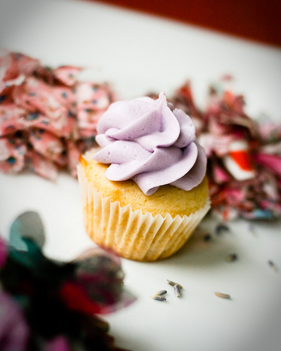 Lavendar Honey Cupcake