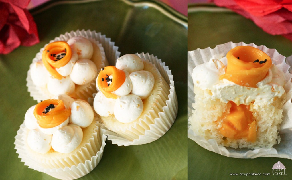 "Mango with ""Sticky Rice"" Cupcakes"